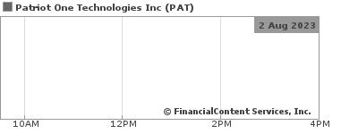 Patriot One Technologies Quarterly Update TSX Venture Exchange:PAT